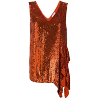 P.a.r.o.s.h. Sequinned Asymmetric Top - Laranja