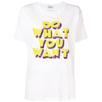 P.a.r.o.s.h. Sequinned Slogan T-Shirt - Branco