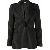 P.a.r.o.s.h. Striped Single-Breasted Blazer - Preto