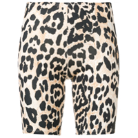 Paco Rabanne Short Com Animal Print - Neutro