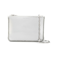 Paco Rabanne Metallic Clutch Bag - Cinza