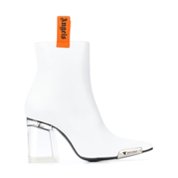 Palm Angels Ankle Boot Com Salto Bloco - Branco