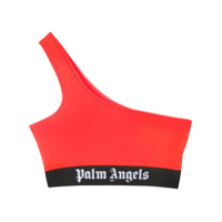 Palm Angels Blusa Cropped Ombro Único - Laranja