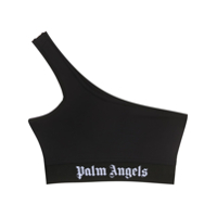 Palm Angels Blusa Cropped Ombro Único - Preto
