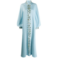 Palomo Spain Pearl Button Kaftan - Azul
