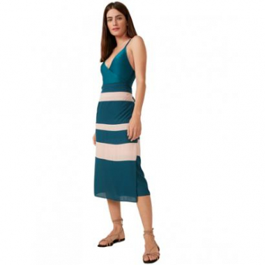 Pareo Amaro Color Block-Feminino