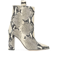 Paris Texas Ankle Boot Com Efeito De Pele De Cobra - Neutro