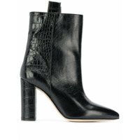 Paris Texas Ankle Boot Com Efeito Pele De Crocodilo - Preto