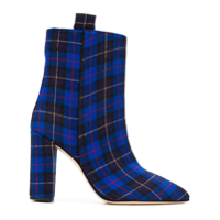 Paris Texas Ankle Boot Tartan - Azul