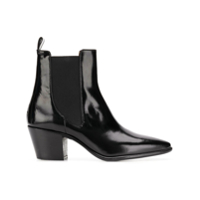 Paris Texas Ankle Boot De Couro - Preto