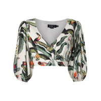 Patbo Blusa Cropped Estampada - Neutro