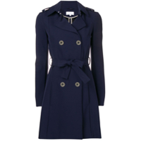 Patrizia Pepe Belted Trench Coat - Azul