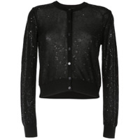 Paule Ka Embroidered Fitted Cardigan - Preto