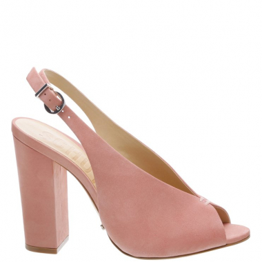 Peep Toe Vamp Salto Bloco Poppy Rose | Schutz