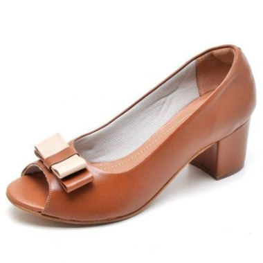 Peep Toe Work  Top Feanca Shoes Feminino-Feminino