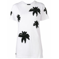 Philipp Plein Camiseta Palm Tree - Branco