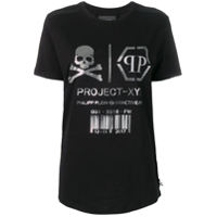 Philipp Plein Camiseta Xyz Skull And Plein - Preto