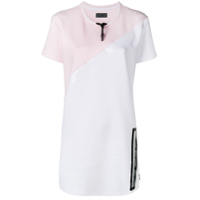 Philipp Plein Stripes T-Shirt Dress - Branco