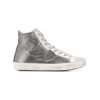 Philippe Model High-Top Tennis Sneakers - Prateado