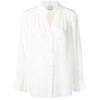 Pinko Oversized Shirt With Cut Out Neckline - Branco