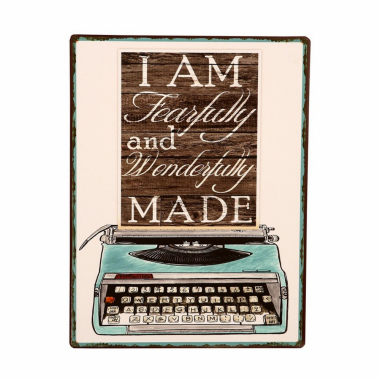 Placa De Metal Decorativa Vintage Writing