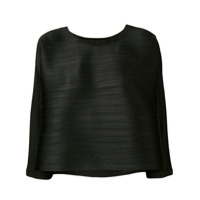 Pleats Please By Issey Miyake Blusa Cropped Evasê - Preto