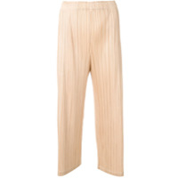 Pleats Please By Issey Miyake Calça Cropped Com Pregas - Neutro