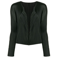 Pleats Please By Issey Miyake Cardigan Com Abertura Frontal - Preto