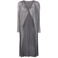 Pleats Please By Issey Miyake Micro Pleated Coat - Cinza