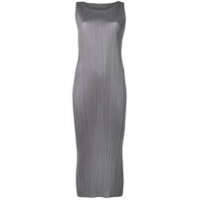 Pleats Please By Issey Miyake Micro Pleated Midi Dress - Cinza
