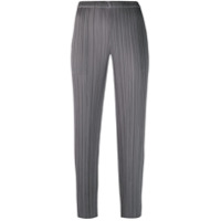 Pleats Please By Issey Miyake Micro Pleated Trousers - Cinza