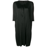 Pleats Please By Issey Miyake Pleated Fitted Coat - Preto
