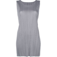 Pleats Please By Issey Miyake Sleeveless Blouser - Cinza