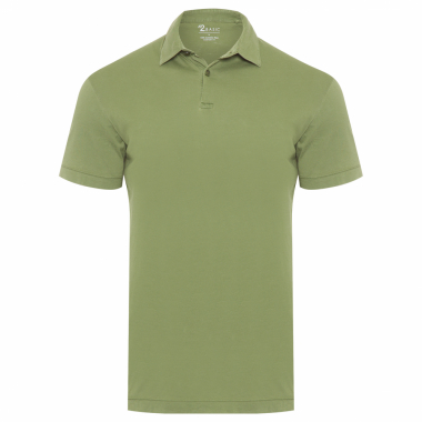 Polo Masculina Algodão Pima Estonada Regular Fit - Verde