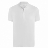 POLO MASCULINA LISA INTERLOQUE - BRANCO