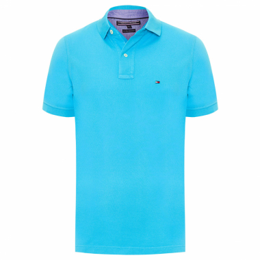 POLO MASCULINA TOMMY KNIT - AZUL