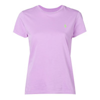 Polo Ralph Lauren Camiseta Decote Careca Com Logo Bordado - Roxo