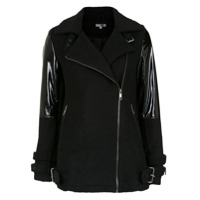 Pop Up Store Blazer Biker Com Recortes - Preto