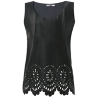 Pop Up Store Blusa Com Recortes A Laser - Preto