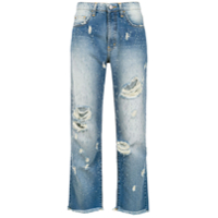 Pop Up Store Calça Cropped Jeans - Azul