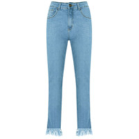 Pop Up Store Calça Jeans Cropped - Azul