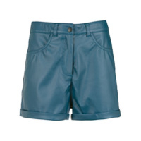 Pop Up Store Short De Couro - Azul