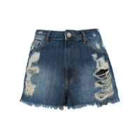 Pop Up Store Short Jeans Desfiados - Azul