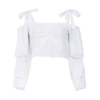 Pop Up Store Top Cropped Mangas Longas - Branco