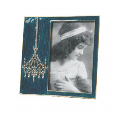 Porta Retrato De Metal Decorativo Lustre Com Strass