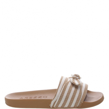 Slide Paisley Bow Natural | Arezzo