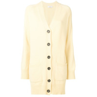 Pringle Of Scotland Cardigan De Cashmere Gola V - Amarelo