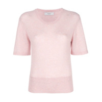 Pringle Of Scotland short-sleeve fitted sweater - Rosa