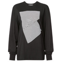 Proenza Schouler Camiseta Abstract Graphic - Preto