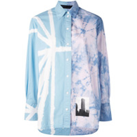 Proenza Schouler Tie-Dye Building Photo Shirt - Azul